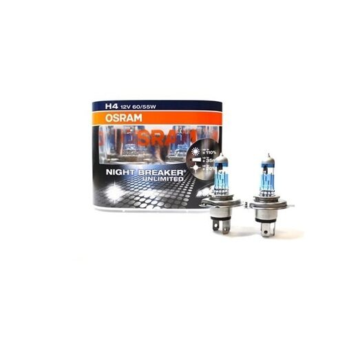 Комплект галогенных ламп OSRAM Night Breaker Unlimited H4 472NBU +110% 60/55W 12V
